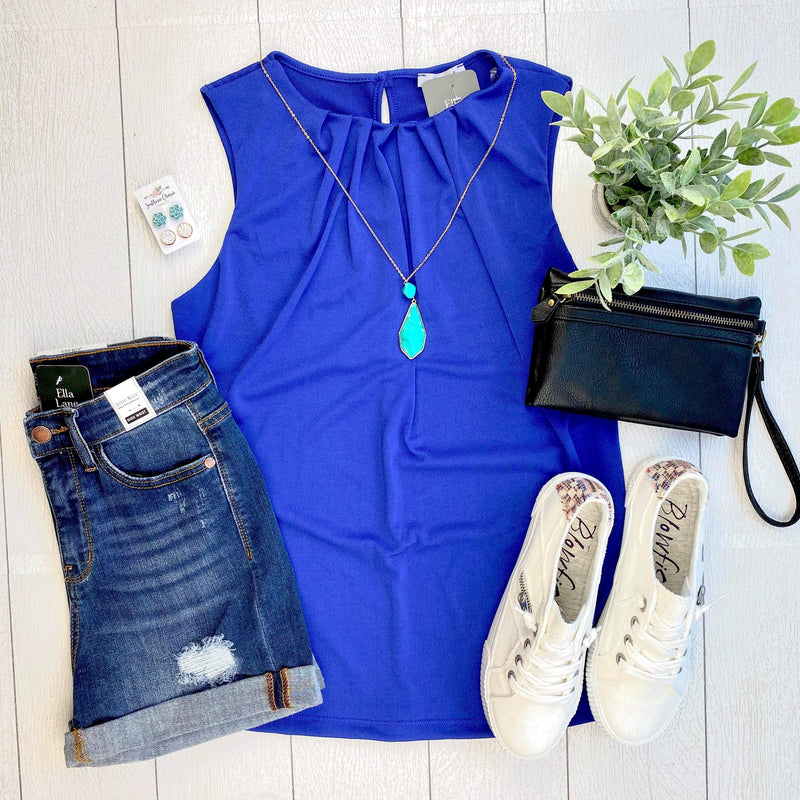 Rylee Sleeveless Top - Royal Blue