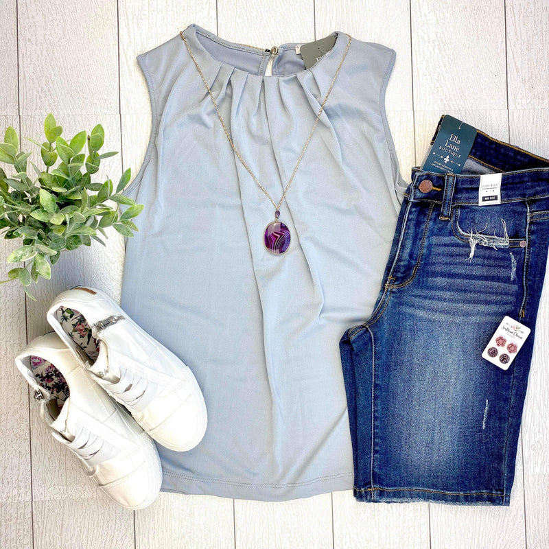 Rylee Sleeveless Top - Grey