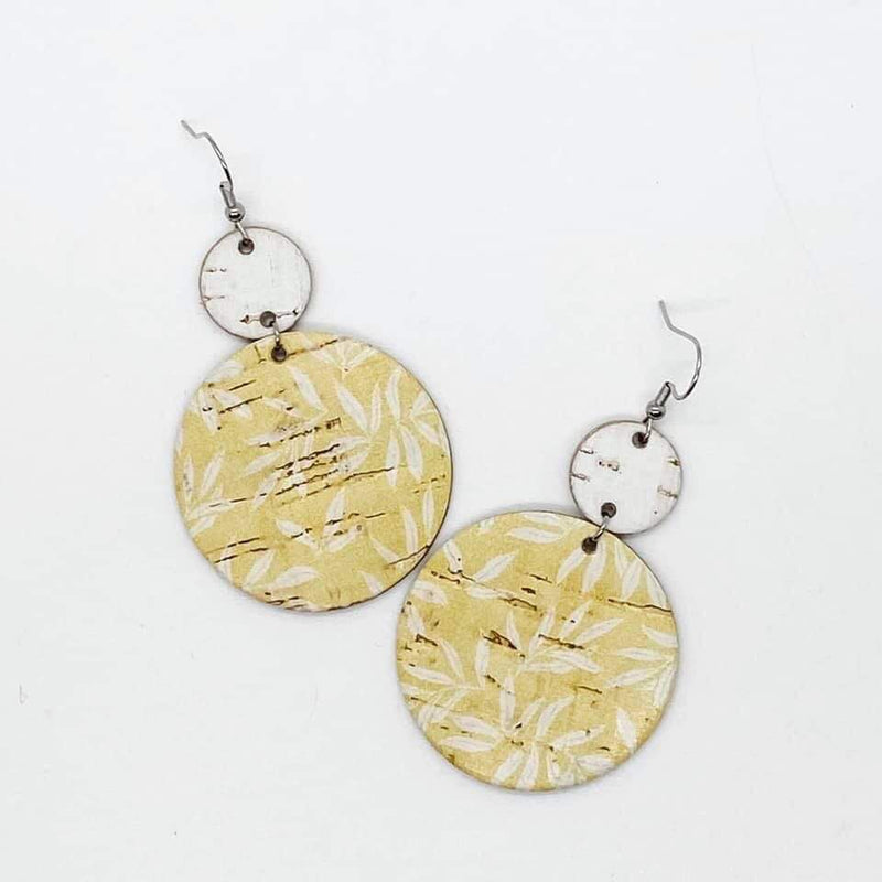 Yellow Floral Piggyback Earrings- FINAL SALE