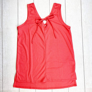 Grace Sleeveless Top - Coral