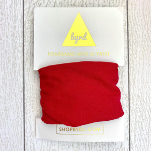 Linen Wire Headband - Red
