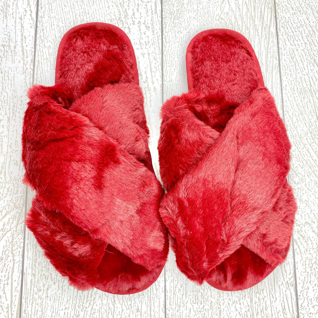 Cozy Slippers - Red