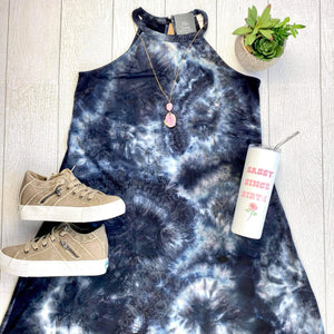 Black Tie Dye Dress FINAL SALE