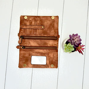 Hobo Wallet/Crossbody - Rust