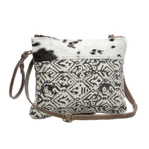 Dual Strap Cotton Rug Crossbody Pouch Bag