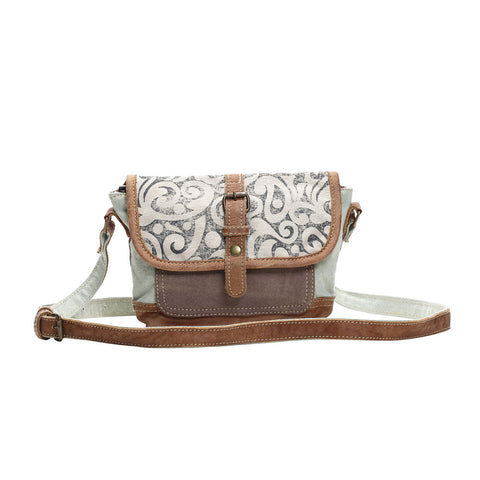 Leaf Print Cross Body Bag