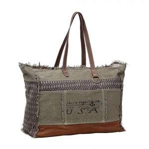 Honey Bee Print Weekender Bag