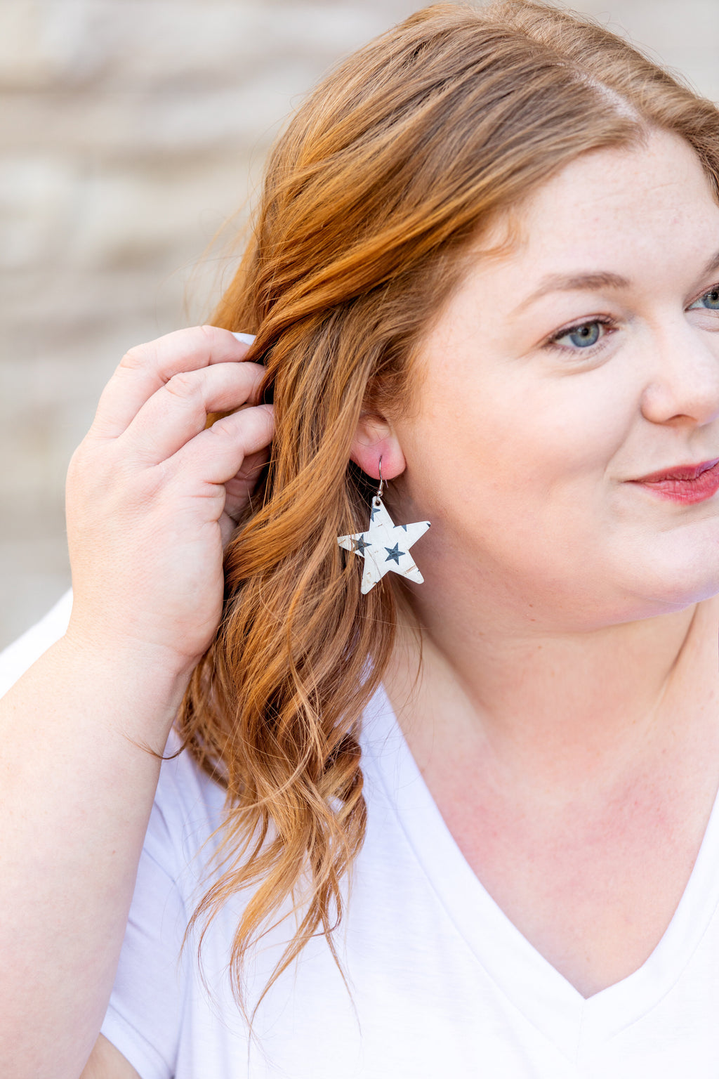 "1.5"" Black Star Corkie Earrings- FINAL SALE"