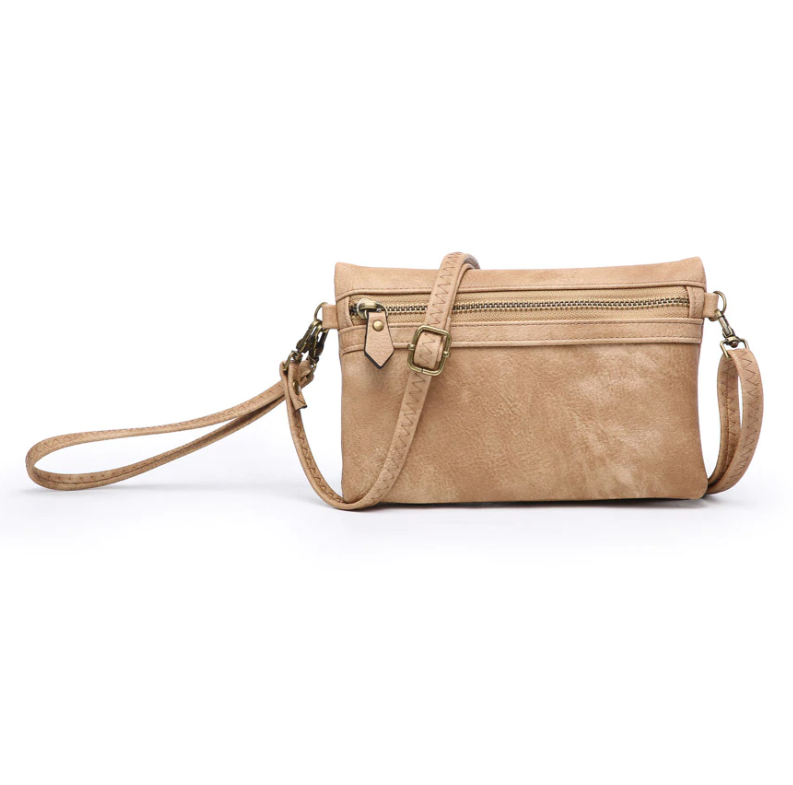 Hobo Wallet/Crossbody - Tan