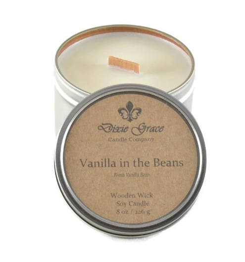 Wooden Wick Candle - Vanilla in the Beans