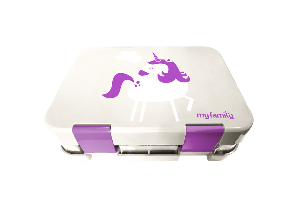 My Family Super Bento Unicorn - 6 Compartment - Discontinued - My Family Kids Brand