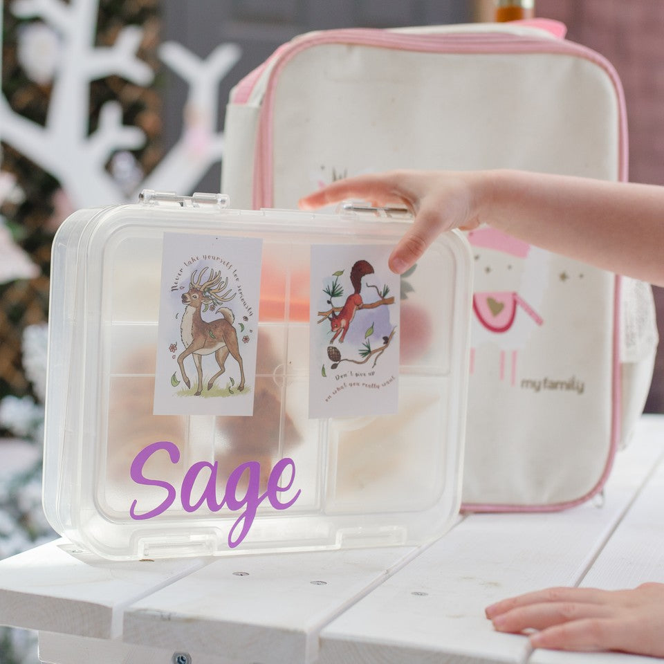 Make It Yours - Clear Easy Clean Bento - My Family Kids Brand