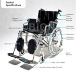 Load image into Gallery viewer, Elevating Wheelchair Features