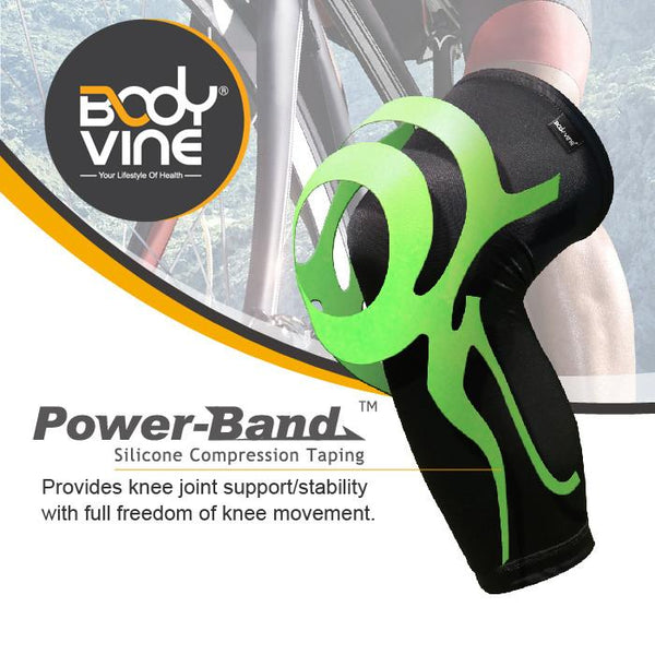 BODYVINE UltraThin Knee Stabilizer PLUS (Green)