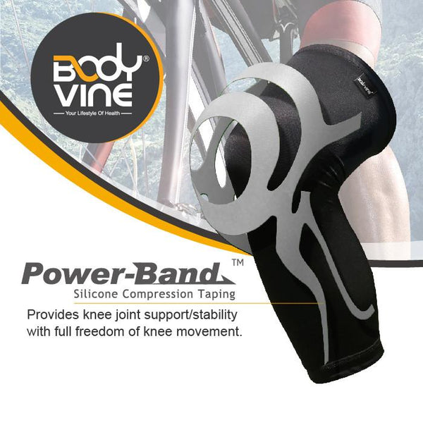 BODYVINE UltraThin Knee Stabilizer PLUS (Grey)