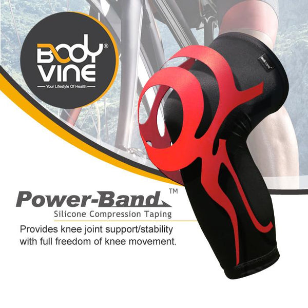 BODYVINE UltraThin Knee Stabilizer PLUS (Red)