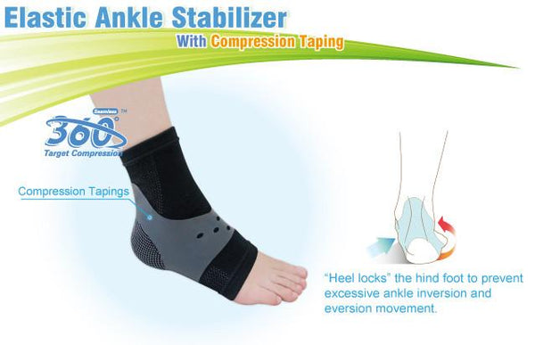 Elastic Ankle Stabilizer Compression Taping Technology