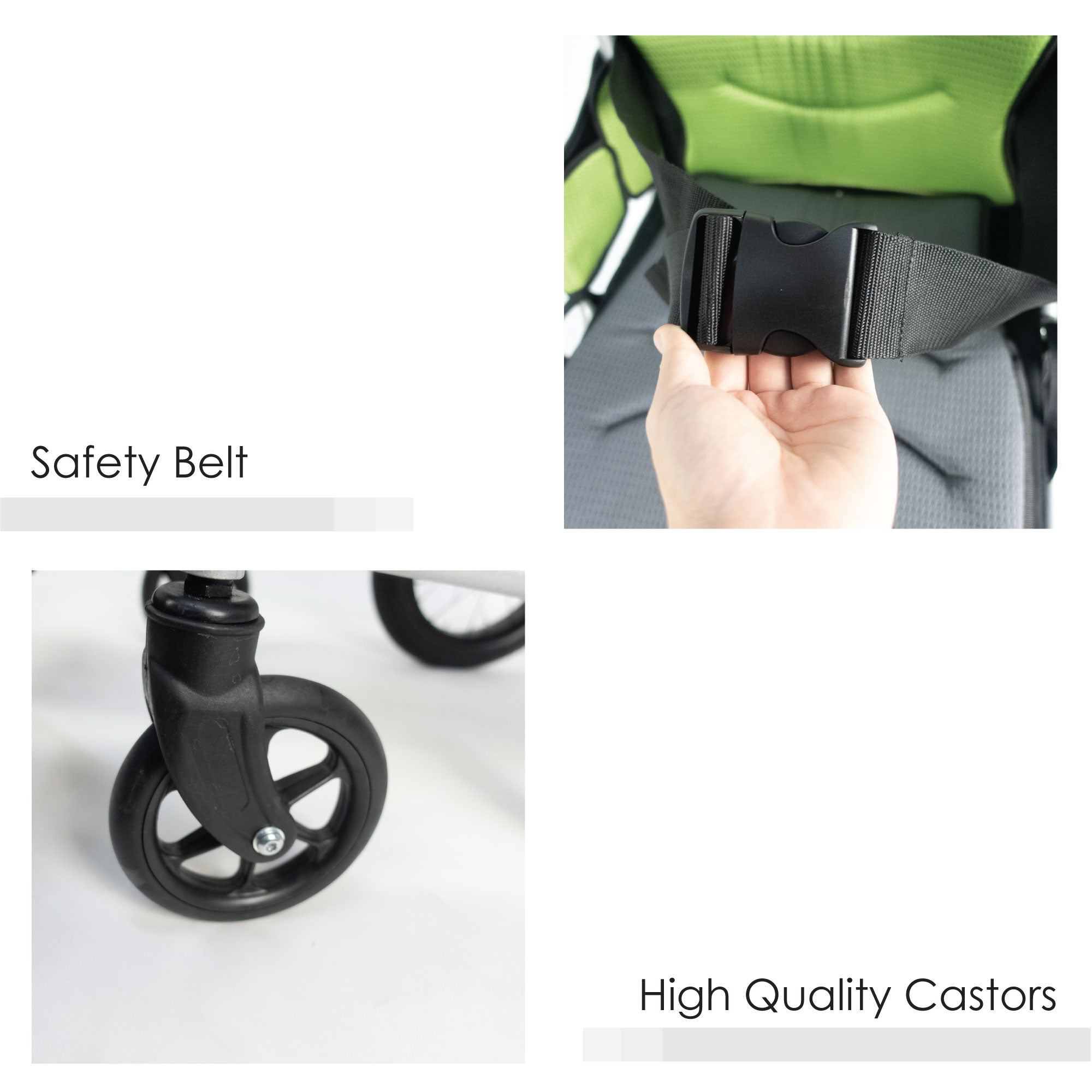 Safety Belt & High Quality Castors