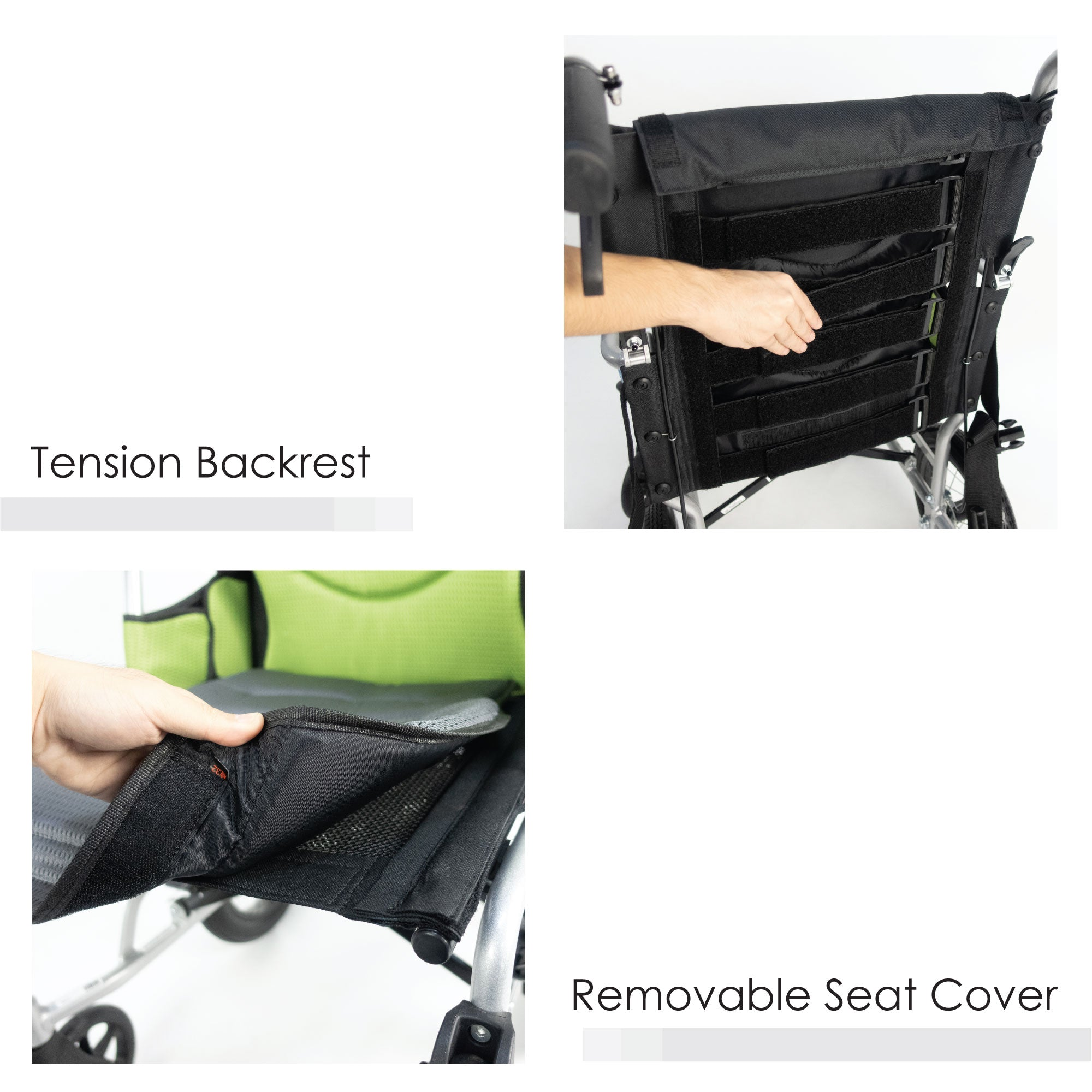 Tension Backrest & Removable Seat Cover