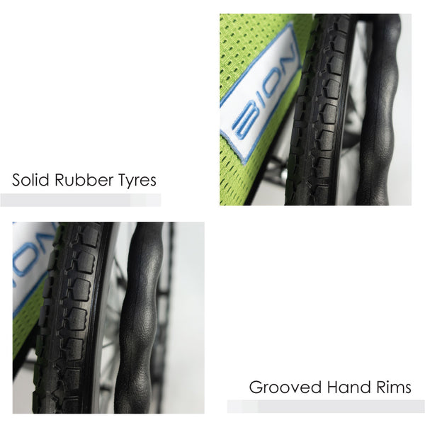 Solid Rubber Tyres & Grooved Hand Rims