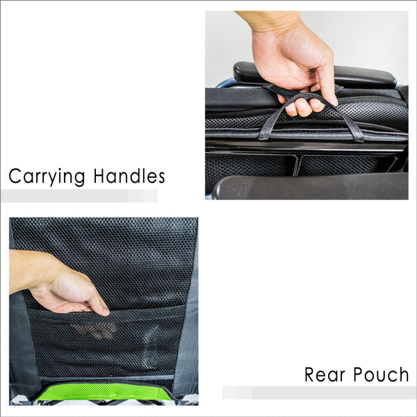 Carrying Handles and Rear Pouch