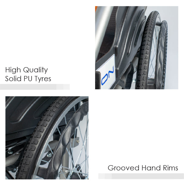 Solid PU Tyres and Grooved Hand Rims