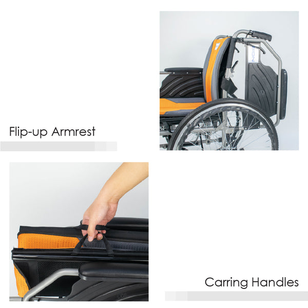 Flip-up Armrest and Carrying Handles
