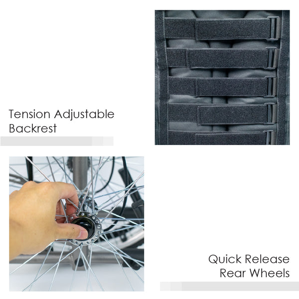Tension Backrest and Quick Release Wheels