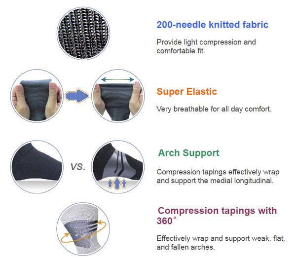 Arch Support Socks (Long) Features