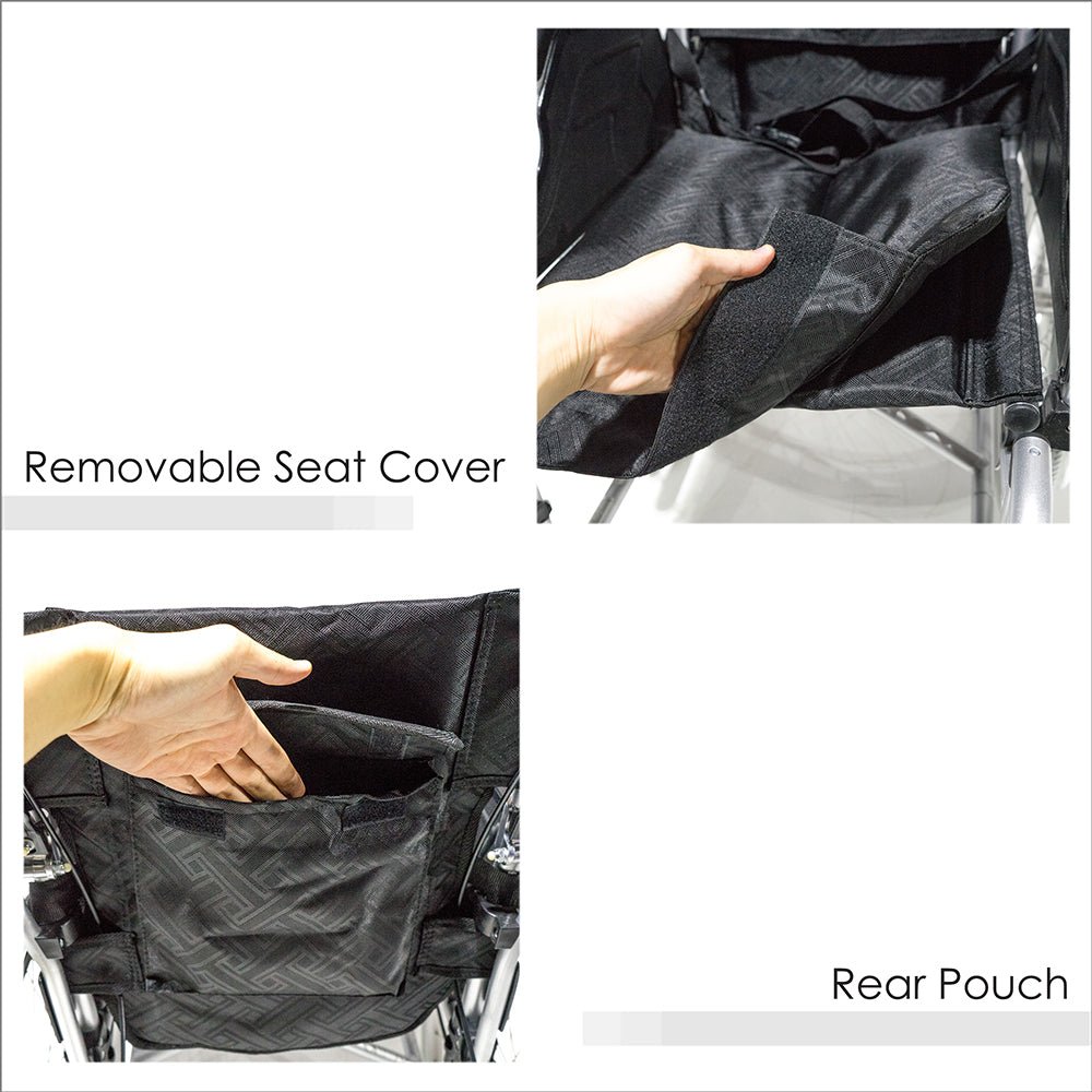 Removable  Seat Cover and Rear Pouch