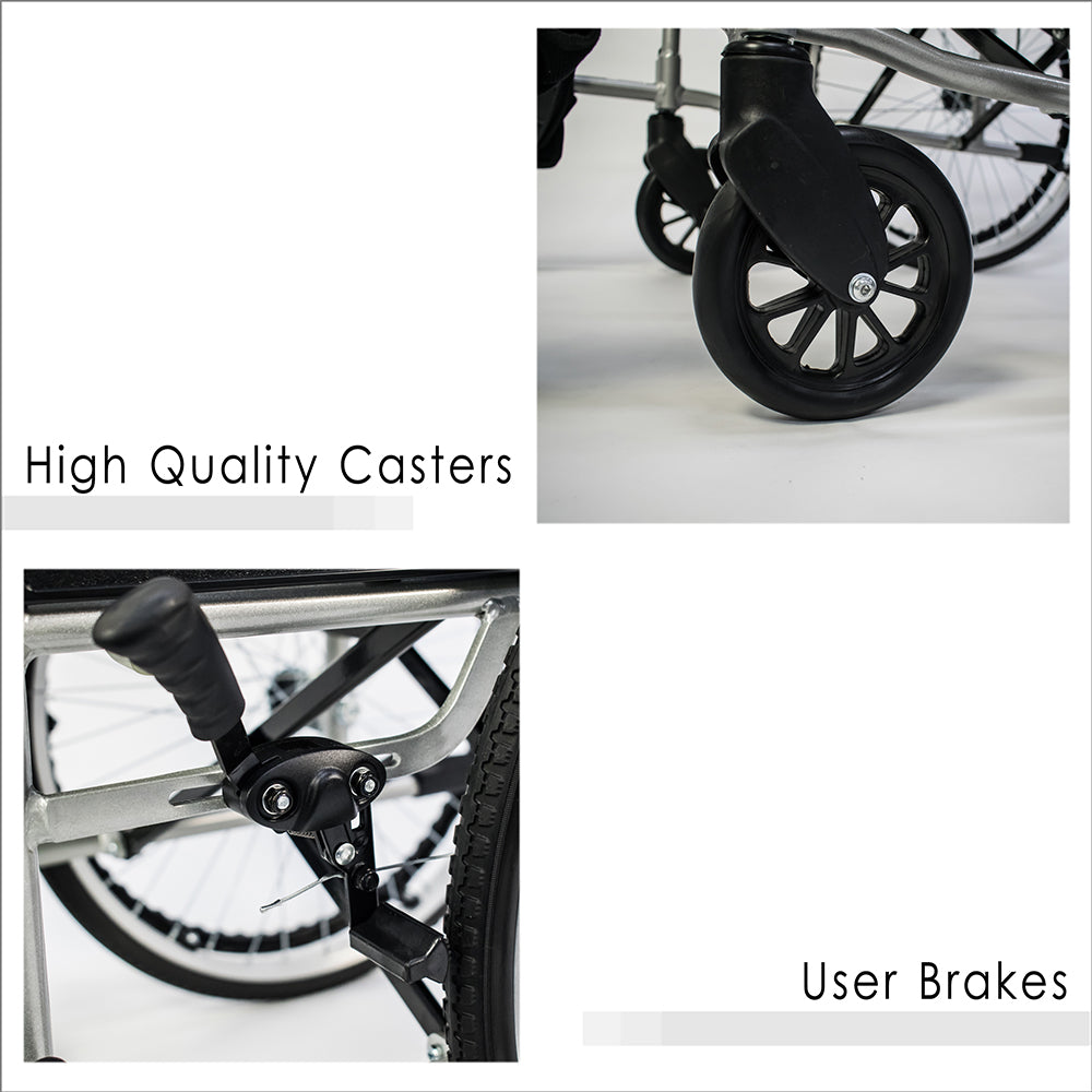 High Quality Casters and User Brakes