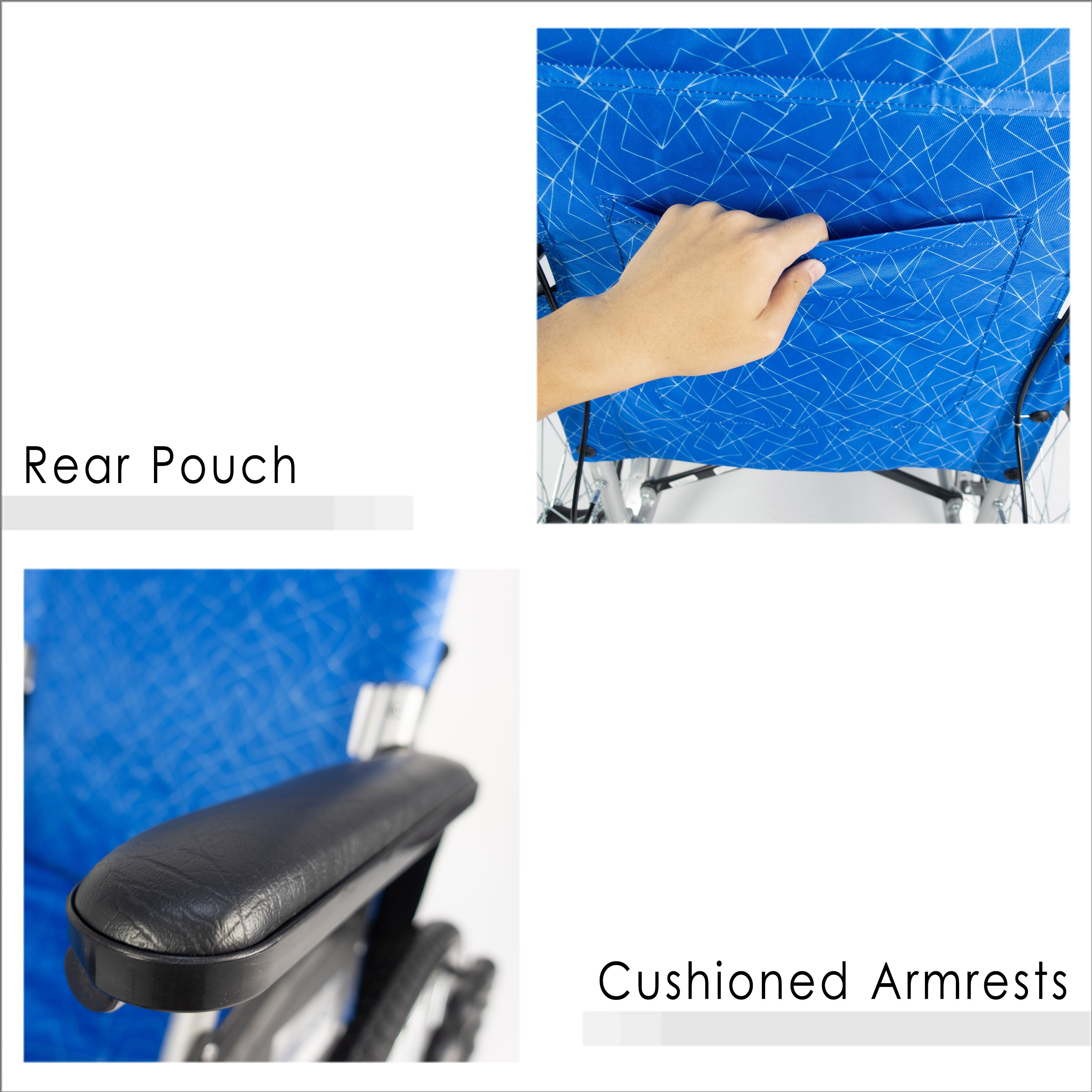 Rear Pouch & Cushioned Armrests
