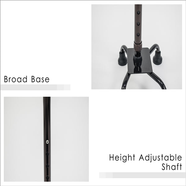 Broad Base, Height Adjustable Shaft