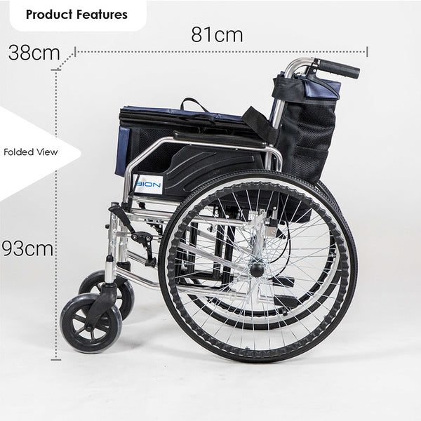 Wheelchair Folded Profile with Specifications