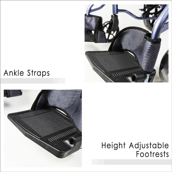 Ankle Straps and Height Adjustable Footrests