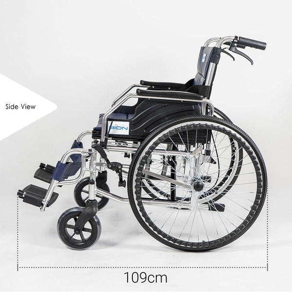 Wheelchair Side Profile with Specifications