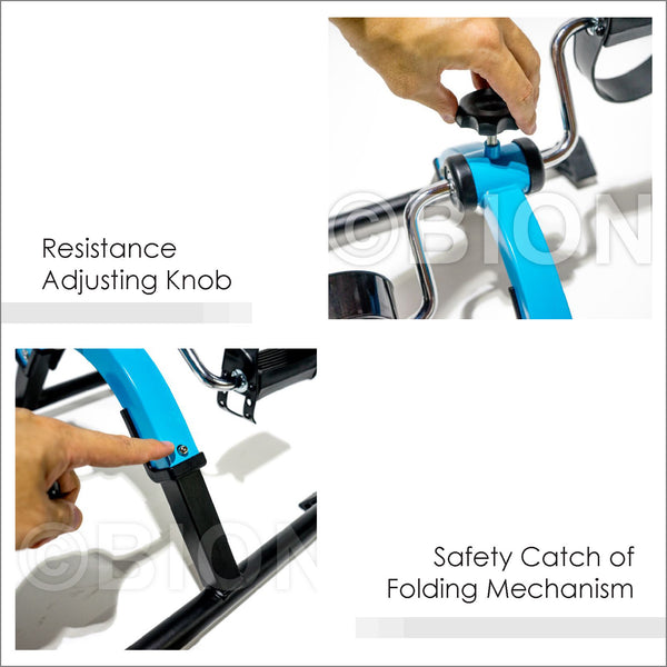 Resistance adjusting Knob and Safety Catch