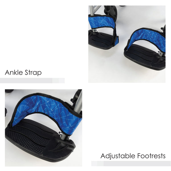 Adjustable Footrests with Ankle Straps