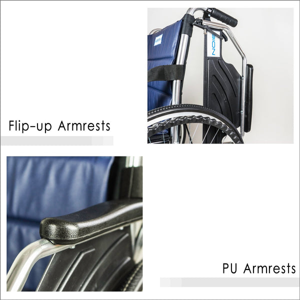 Flip-up Armrests and PU Armrests
