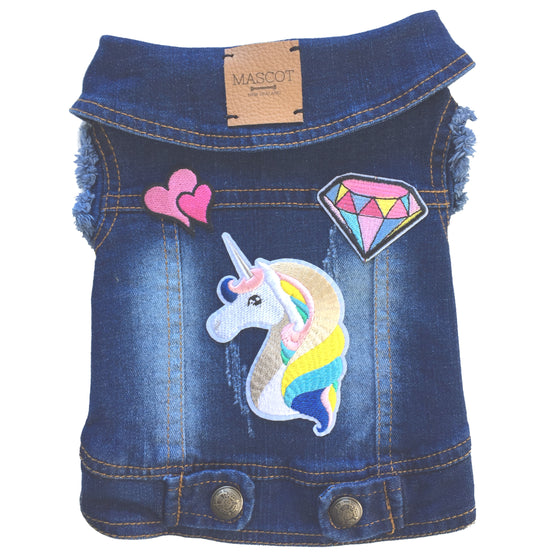 The Unicorn Made Me Do It Denim Vest