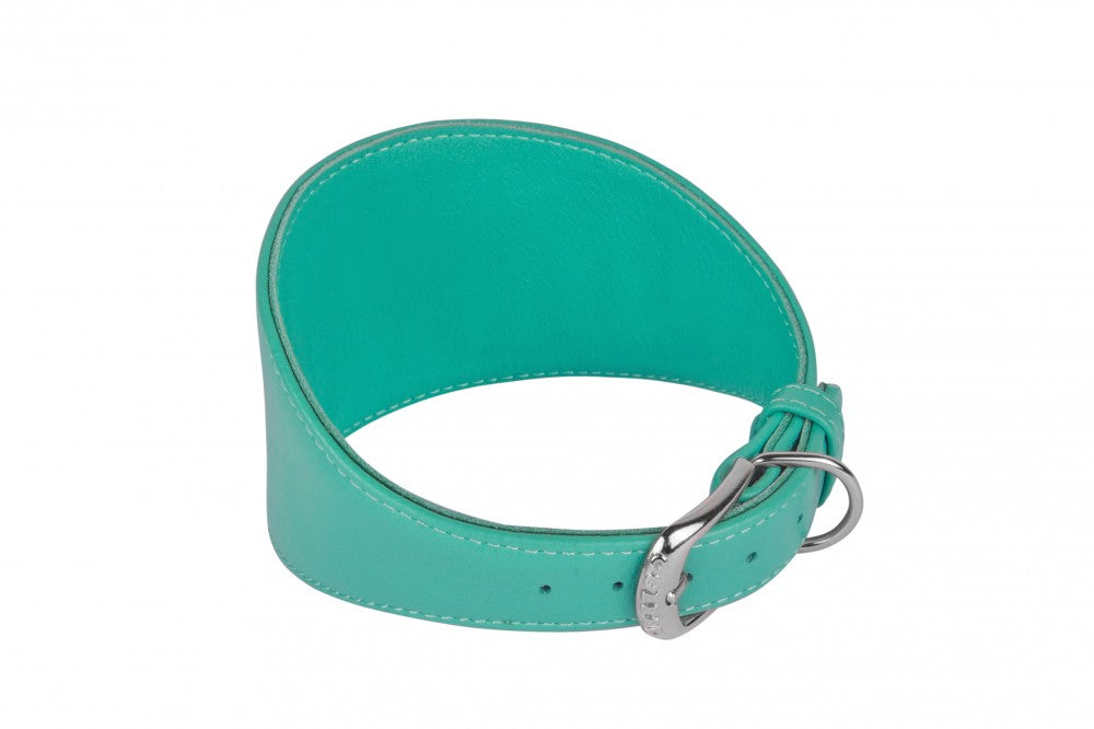 Custom Leather Hound Collar - Mint