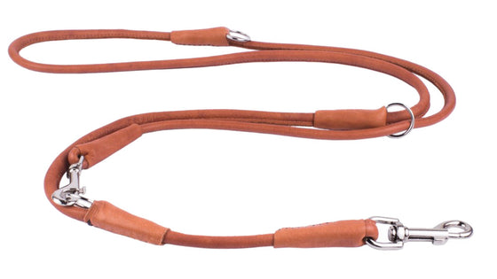 Rolled Leather Multi Leash - Brown