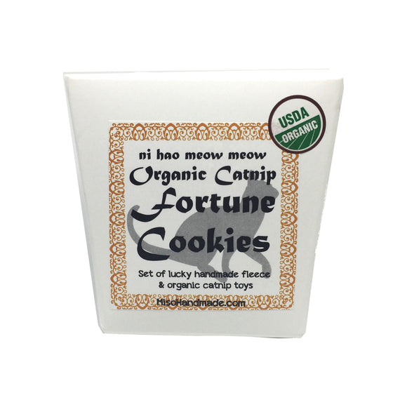 Organic Catnip Fortune Cookie Set