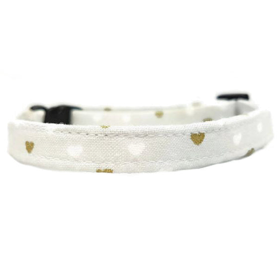 Grey Metallic Hearts Collar
