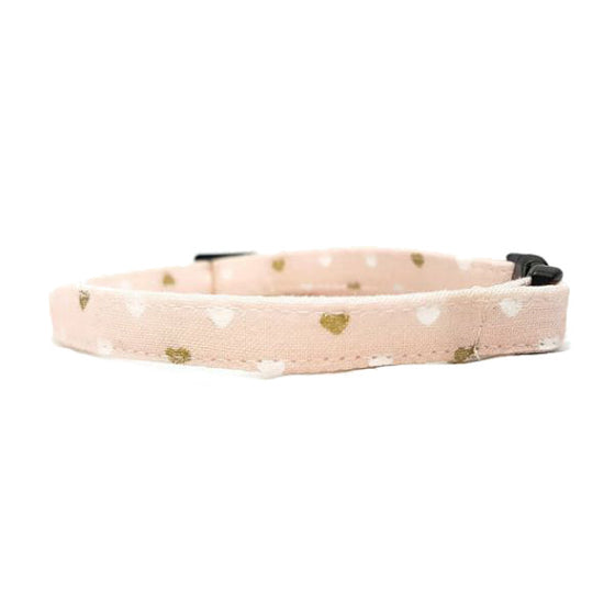 Pink Metallic Hearts Collar