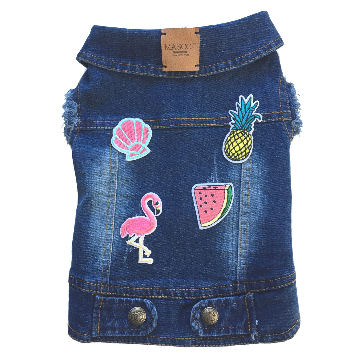 The Tutti Frutti Denim Vest