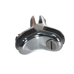 3 Way 120 Degrees Glass Connector - Chrome