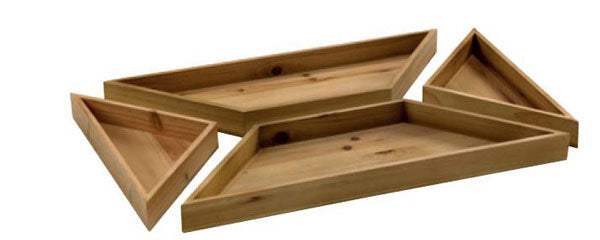 4 Piece Rectangular Tray