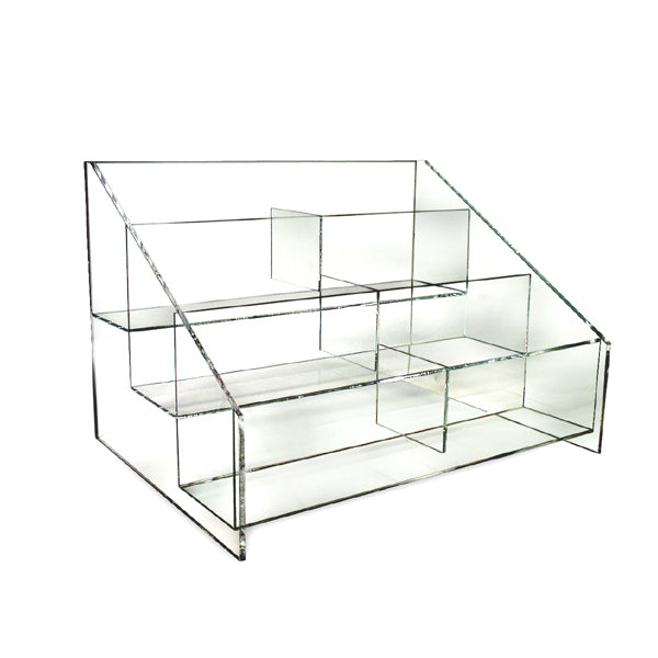 Acrylic Counter Display Bin - 6 Sections