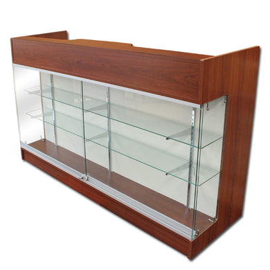 6' Ledgetop Counter with Showcase Front
